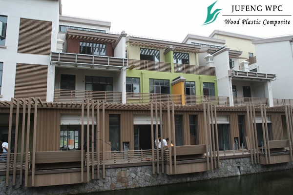 上海某港资别墅项目大量使用聚锋塑木,全面提升别墅生活品质